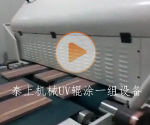 泰上机械UV辊涂一组设备