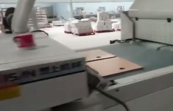 泰上机械浴室柜UV涂装生产线